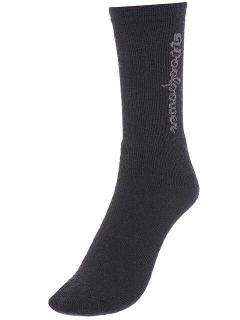 Woolpower 400 Logo Socks Unisex Black
